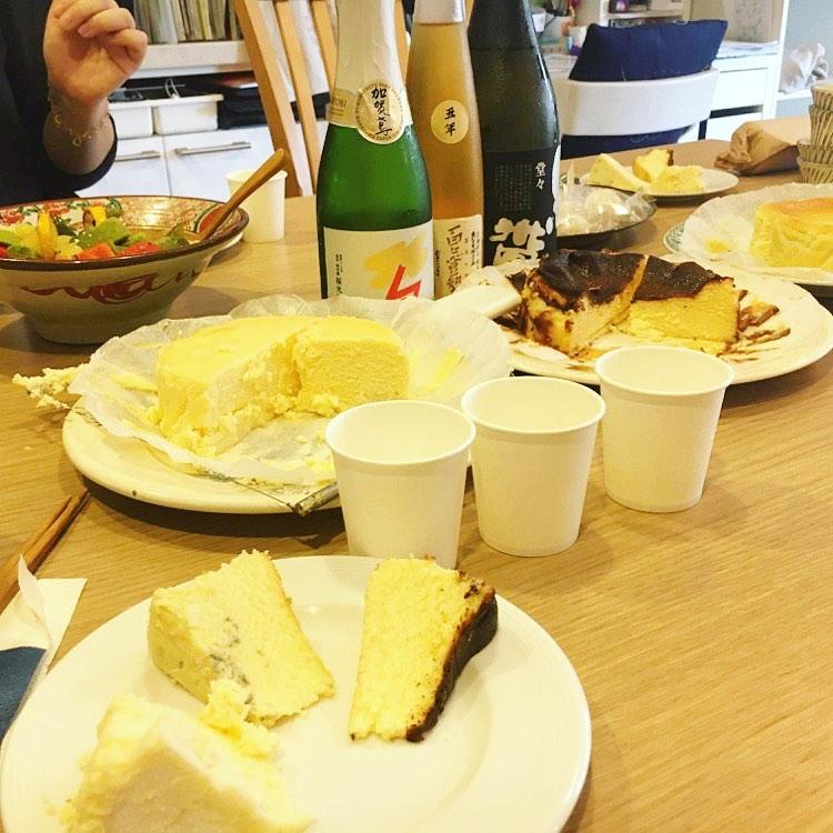 カオリーヌ菓子店のチーズケーキ × 福光屋の日本酒(2021.06.05)