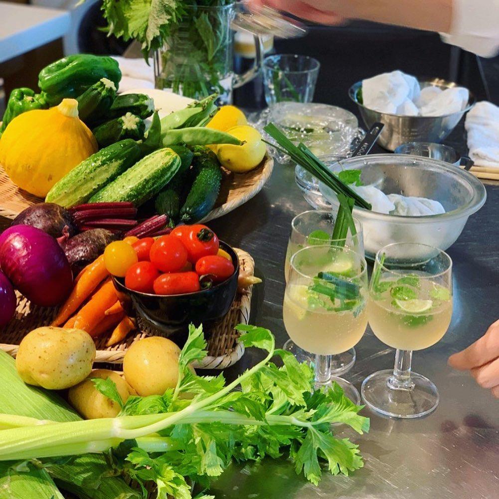 蕎麦の実と夏野菜(2021.07.24)